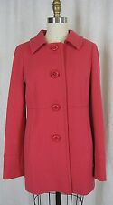 NEW J. CREW CORAL DOUBLE CLOTH Sz 6LADY DAY COAT RN77388