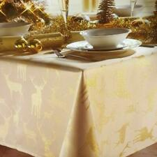 "Christmas Story Gold Stag Tablecloth 52"" x 90"""