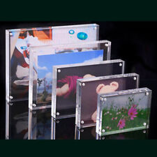 Magnetic Transparent Acrylic Picture Photo Frame Poster Display-Stand Holder 1pc