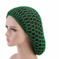 Black yellow green red  Long Hair Net Hairnet Snood Large Crochet Rasta Jamaica