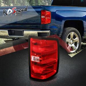 Right Side Red Lens Tail Light Brake Lamp for 14-19 Chevy Silverado GMC Sierra