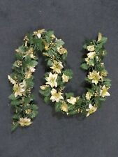 Christmas Garland, Green and Gold, 5 Ft