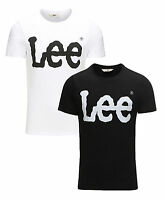 Lee New Mens Printed Slim Cotton Logo T-Shirt Branded Print Top S M L XL XXL