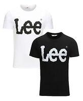 Lee New Mens Printed Slim Cotton Logo T-Shirt Branded Print Top S M L XL XXL