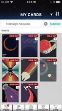 Topps Star Wars Digital Card Trader 8 Card Nostalgic Nouveau Insert Set