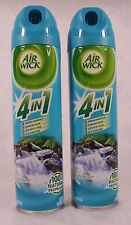 2 Can AIR WICK FRESH WATERS 4 IN 1 Air Fresheners Room Spray