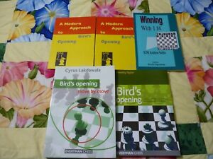 Bird's Opening Chess Book Lot Of 5 In Great Condition