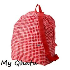 IKEA Backpack Foldable Lightweight Bag (Red & White) Knalla NEW