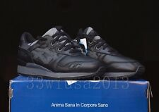Asics Gel-Lyte III Japanese Denim Black Leather Size 9 Okayama Japan H509L-9090