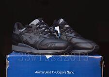 Asics Gel-Lyte III Japanese Denim Black Leather Size 9 Okayama Japan H509L-9090