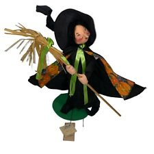 """1996 ANNALEE DOLL VINTAGE HALLOWEEN WITCHY BREW WITCH LARGE 18 """" TALL #3108 Tags"""