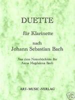 KLARINETTE DUETTE NACH J.S. BACH ( NOTEN )
