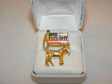 HILLARY CLINTON LAPEL PIN KEEPSAKE BUTTON WINS POPULAR VOTE BY OVER 2.9 MILLION!