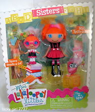 LaLaLOOPSY Sisters *BEA Spells a Lot & SPECS Reads* Littles Mini Dolls FREE SHIP