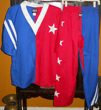 Puerto Rico Martial Arts Men's Size 4 or Medium Outfit Red White Blue Mma Gear
