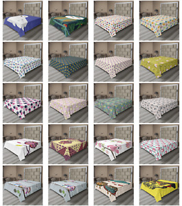 Ambesonne Owl Flat Sheet Top Sheet Decorative Bedding 6 Sizes