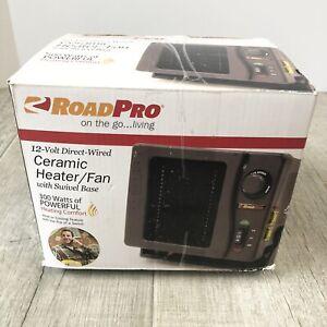 RoadPro 12 Volt Direct Wired Ceramic Heater/Fan w Swivel Base