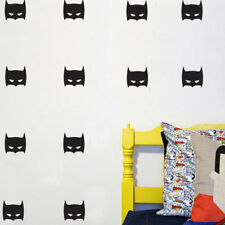 32 Super Hero Batman Mask Removable Wall Stickers for Nursery Kids Vinyl Decal