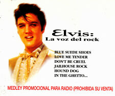ELVIS PRESLEY- LA VOZ DEL ROCK CD SINGLE MEDLEY PROMOTIONAL VERY RARE 2 TRACKS