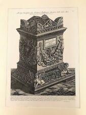 Piranesi, Roman marble urn .Original etching.Paris 1800-1806