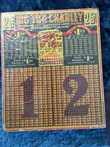 Vintage 25 Cent Big Top Charley Punch Board - Trade Simulator - Fast Free Ship!