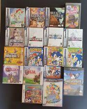 Lot x17 EMPTY vintage game boxes/manuals Gameboy Advance Gamecube PSP 2/3DS rare
