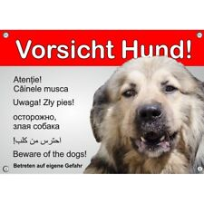 Dogs Sign-Sarplaninac-warning in 6 languages-weatherproof and resistant