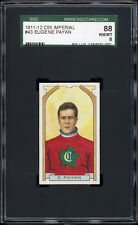 1911 C55 Imperial Tobacco #43 Eugene Payan Rookie (Montreal Canadiens) SGC 88+