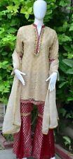 Pakistani Indian Designer Party Wear Gharara Pants M