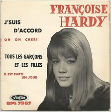 """FRANCOISE HARDY """"OH OH CHERI"""" 60'S EP VOGUE 7 967"""