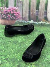 CROCS Size 6 W Womens Slip On Ballet Flats Shoes Black Suede