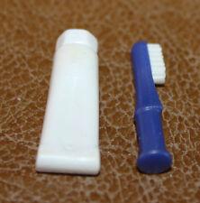 Playmobil accessoire brosse à dents et tube de dentifrice blanc ref gg