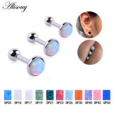 3 PCS Opal Sugical Steel Monroe Lip Ring Ear Tragus Labret Studs Mixed 3 Sizes