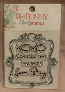 Bo Bunny Clear Clearly Stamps NEW Cherished Moment Love Story XOXO Tag