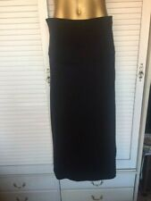 Black Plus Size Skirt with Triple Fabric Front & Double Fabric Back Sz 18
