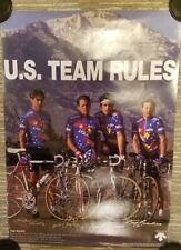 LANCE ARMSTRONG - Signed 1992 Barcelona Olympics Cycling Team Poster