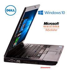 Fast Dell Latitude Laptop Computer 4gb Core 2 Duo WiFi DVD Window 10 Notebook HD