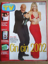 TV Sorrisi e Canzoni n°1 2002 Michelle Hunziker Claudio Bisio Julia Roberts [D54