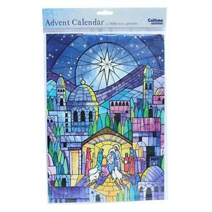 Christmas Countdown Advent Calendar - 24 Windows - 389801 Stained Glass