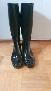 Gummistiefel mit Absatz High Heels Boots Stiefel Sarra Zienne RAR Vintage