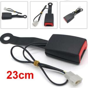 23cm Car Seat Belt Latch Buckle Safety Belt Buckle Plug Adapter w/ Warning Cable