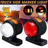 2x 12-24V LED Mini Side Marker Light Outline Indicator Rubber Lamp Trailer Truck
