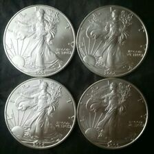Lot of Four 2006 $1 American Silver Eagle Dollars