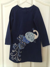 Gymboree Peacock Petals 7 Navy Blue Gem Sweatshirt Dress Girls