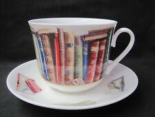 CREATIVE WRITE BREAKFAST CUP SAUCER fine bone china Made in England  ROY KIRKHAM