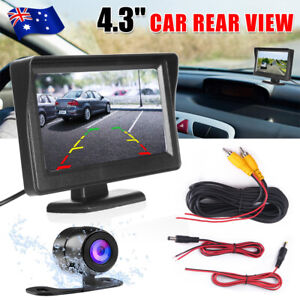 "4.3"" TFT LCD Monitor Car Rear View Kit + Night Vision Parking IR Reverse Camera"