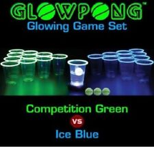 Glow In The Dark Beer Pong Set Drinking Games For Adults College Dorm Party Cups