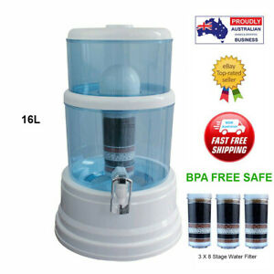 Benchtop Purifier 8 Stage Water Filter Dispenser Ceramic Carbon Mineral Aimex16L