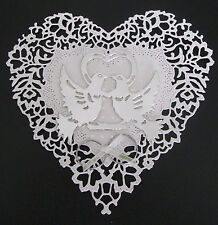 Heart and Love Birds Silver Topper - For Wedding and Anniversary Cards