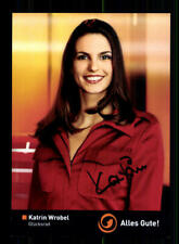 Katrin Wrobel Glücksrad  Autogrammkarte Original Signiert # BC 137587